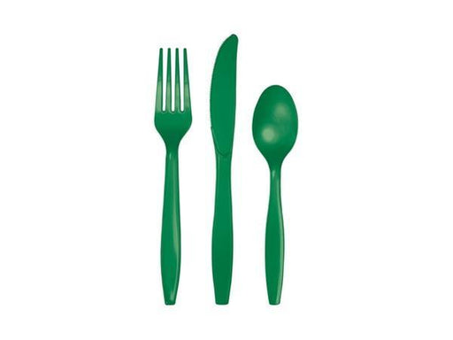 Party Kit Company - Tableware Cutlery Emerald Party Cutlery (24pk)