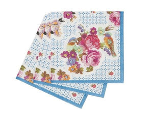 Party Kit Company - Tableware Napkins Fancy Floral Cocktail Napkins (40pk)