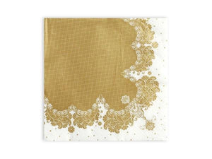 Party Kit Company - Tableware Napkins Fancy Gold Lunch Napkins (20pk)