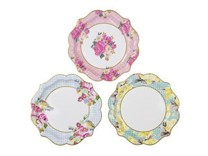 Party Kit Company - Tableware Plates Floral High Tea Lunch Plates (12pk)