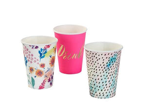 Party Kit Company - Tableware Cups Fluoro Floral Party Cups (12pk)