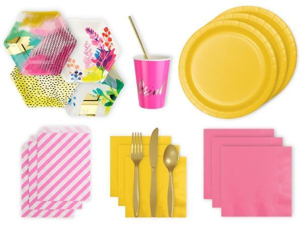 Party Kit Company Party Kits FLUORO FLORAL PARTY KIT