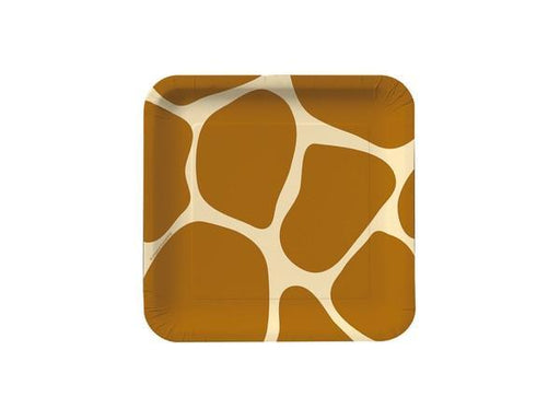 DISCONTINUED DISCONTINUED Giraffe Square Cake Plates (8pk)