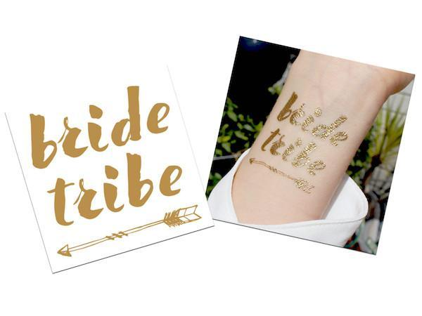 Party Kit Company - Decorations Favours and Dress-ups Gold Bride Tribe Temporary Tattoos