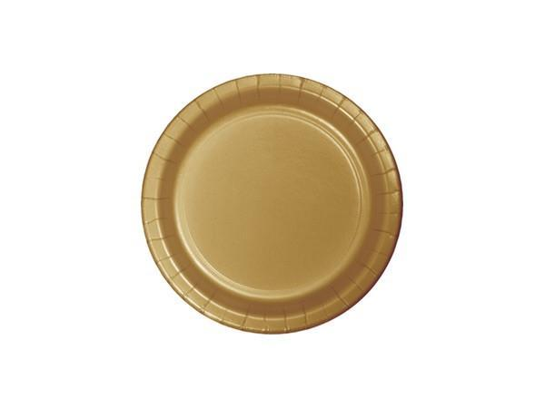 Party Kit Company - Tableware Plates Gold Cake plates (24pk)
