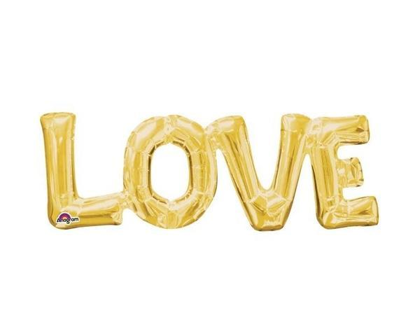 Party Kit Company - Decorations Balloons and Balls Gold Foil 'LOVE' Balloon