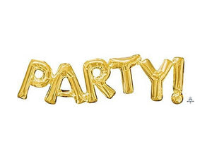 Party Kit Company - Decorations Balloons and Balls Gold Foil 'PARTY' Balloon