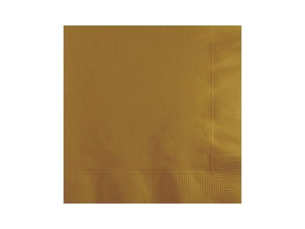 Party Kit Company - Tableware Napkins Gold Lunch napkins (50pk)