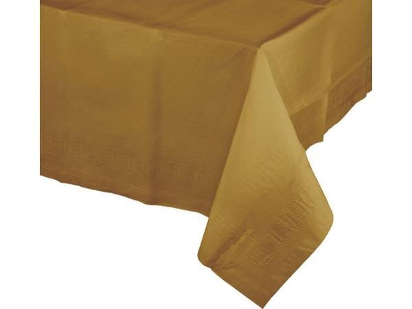 Party Kit Company - Tableware Tablecloths Gold Gold Plastic Lined Party Tablecloth