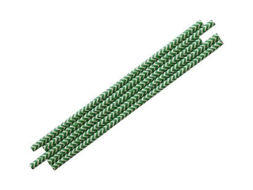 Party Kit Company - Tableware Straws Green Chevron Straw (25pk)