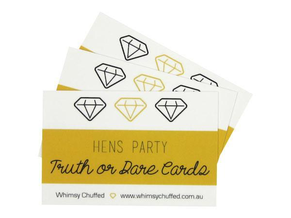 Party Kit Company - Decorations Favours and Dress-ups Hen's Party Truth or Dare Cards (25pk)