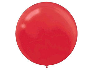 Party Kit Company - Decorations Balloons and Balls Apple Red Jumbo 60cm Balloons (4pk)