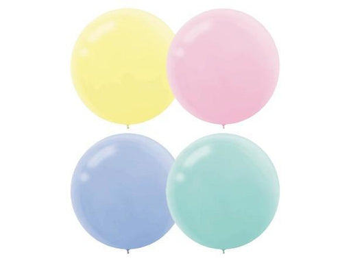 Party Kit Company - Decorations Balloons and Balls Pastel Mix Jumbo 60cm Balloons (4pk)