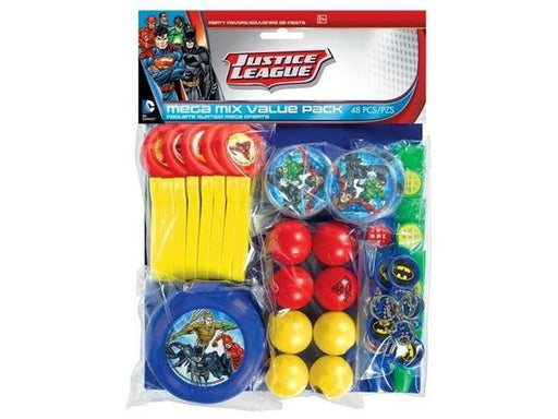 Party Kit Company - Decorations Favours and Dress-ups Justice League Mega Pack Party Favours (48pk)