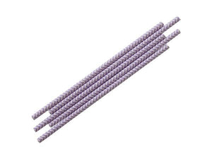 Party Kit Company - Tableware Straws Lavender Chevron Straw (25pk)
