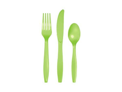 Party Kit Company - Tableware Cutlery Lime green Party Cutlery (24pk)