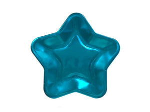 Party Kit Company - Tableware Plates Metallic Blue Star Lunch Plates (8pk)