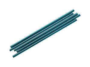 Party Kit Company - Tableware Straws Metallic blue straw (25pk)