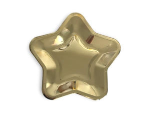 Party Kit Company - Tableware Plates Metallic Gold Star Lunch Plates (8pk)
