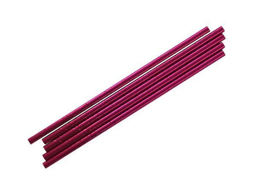 Party Kit Company - Tableware Straws Metallic pink straw (25pk)