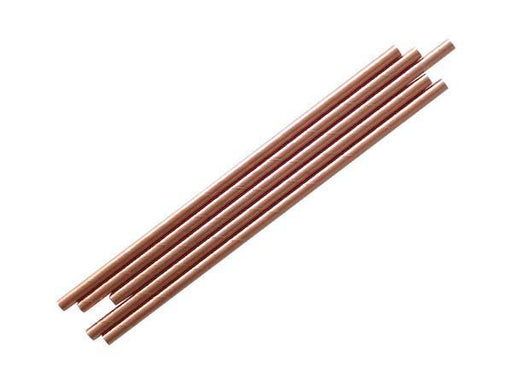 Party Kit Company - Tableware Straws Metallic rose gold straw (25pk)