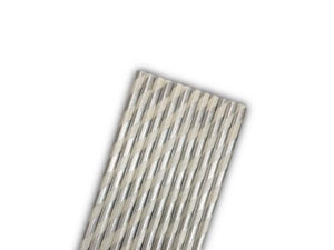 Party Kit Company - Tableware Straws Metallic white and silver straw (25pk)