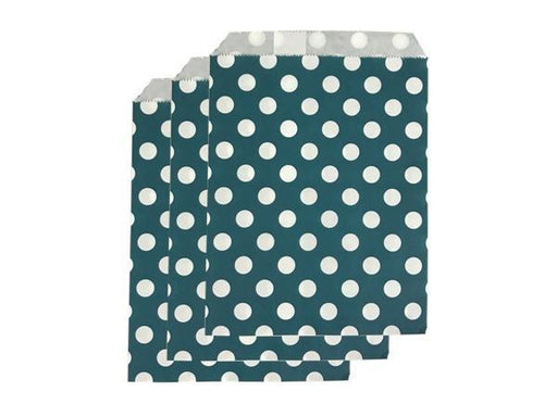 Party Kit Company - Tableware Favour Bags Navy Polka Dot Paper Party Bags (25pk)