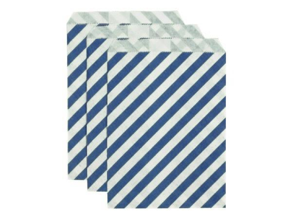 Party Kit Company - Tableware Favour Bags Navy Stripe Paper Party Bags (25pk)