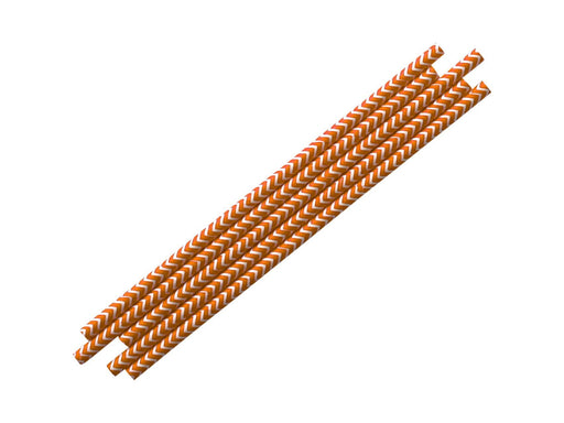 Party Kit Company - Tableware Straws Orange Chevron Straw (25pk)