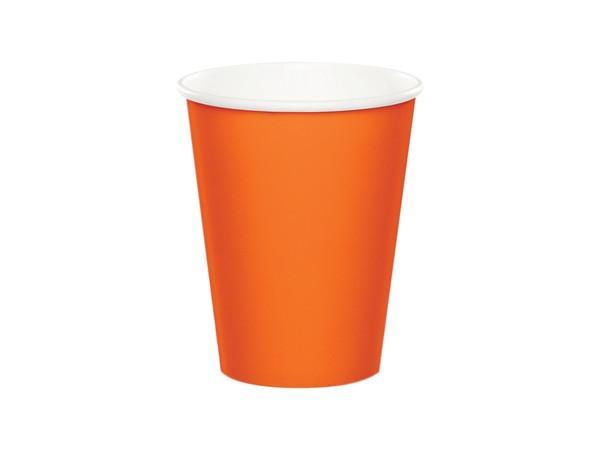 Party Kit Company - Tableware Cups Orange Party Cups (8pk)