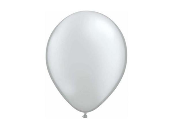 Party Kit Company - Decorations Balloons and Balls Metallic Silver Party balloons - 28cm (10pk)