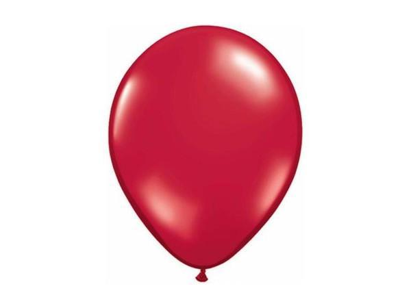 Party Kit Company - Decorations Balloons and Balls Red Ruby Party balloons - 28cm (10pk)