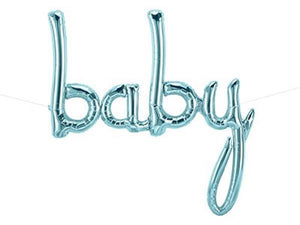 Party Kit Company - Decorations Balloons and Balls Pastel Blue Foil 'Baby' Balloon