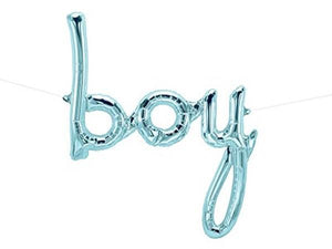 Party Kit Company - Decorations Balloons and Balls Pastel Blue Foil 'Boy' Balloon