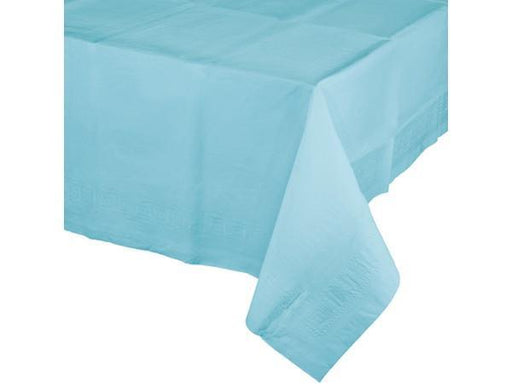 Party Kit Company - Tableware Tablecloths Pastel Blue Pastel Blue Plastic Lined Party Tablecloth
