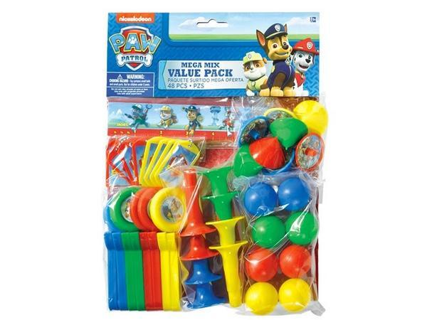 Party Kit Company - Decorations Favours and Dress-ups Paw Patrol Mega Pack Party Favours (48pk)