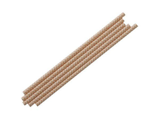 Party Kit Company - Tableware Straws Peach Chevron Straw (25pk)