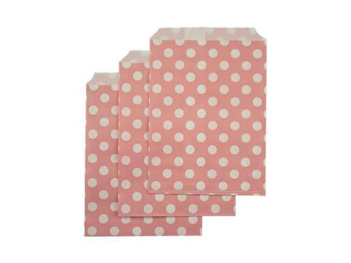 Party Kit Company - Tableware Favour Bags Pink Polka Dot Paper Party Bags (25pk)