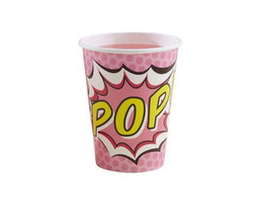 Party Kit Company - Tableware Cups Pink Superhero Party Cups (8pk)