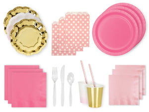 Party Kit Company Party Kits PRETTY PINK & GOLD PARTY KIT