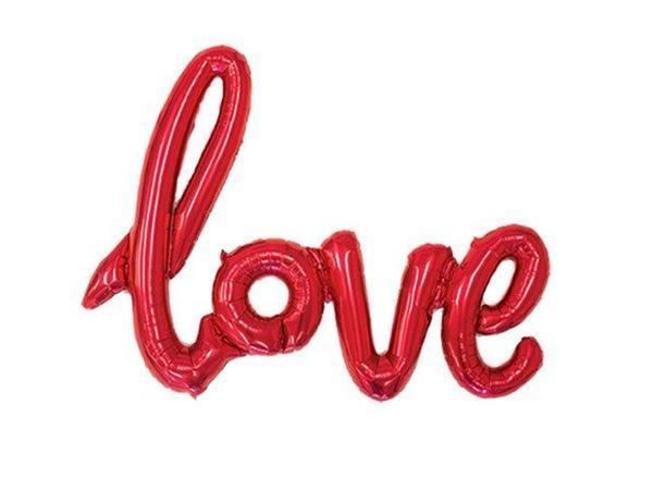 Party Kit Company - Decorations Balloons and Balls Red Foil 'Love' Balloon