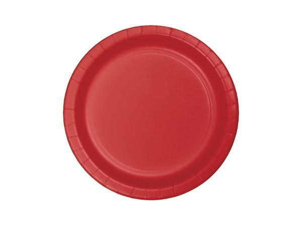 Party Kit Company - Tableware Plates Red Lunch Plates (8pk)