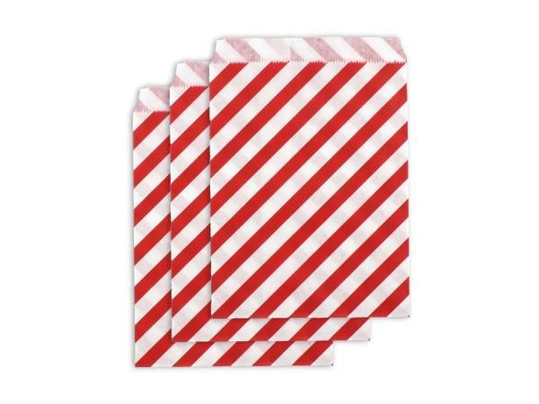 Party Kit Company - Tableware Favour Bags Red Stripe Paper Party Bags (25pk)