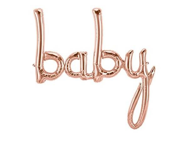 Party Kit Company - Decorations Balloons and Balls Rose Gold Foil 'Baby' Balloon