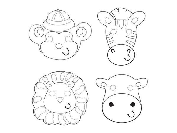 Party Kit Company - Decorations Favours and Dress-ups Safari Adventure Colour-In Party Masks (12pk)