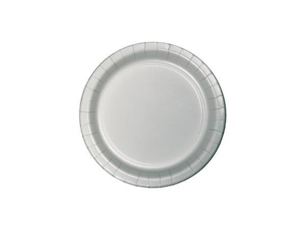 Party Kit Company - Tableware Plates Silver Cake plates (24pk)