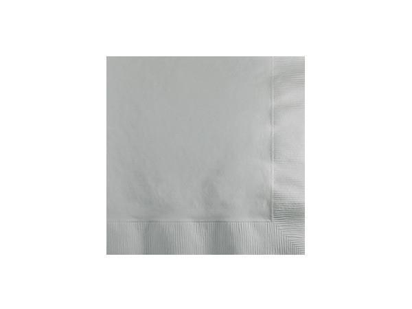 Party Kit Company - Tableware Napkins Silver Cocktail napkins (50pk)