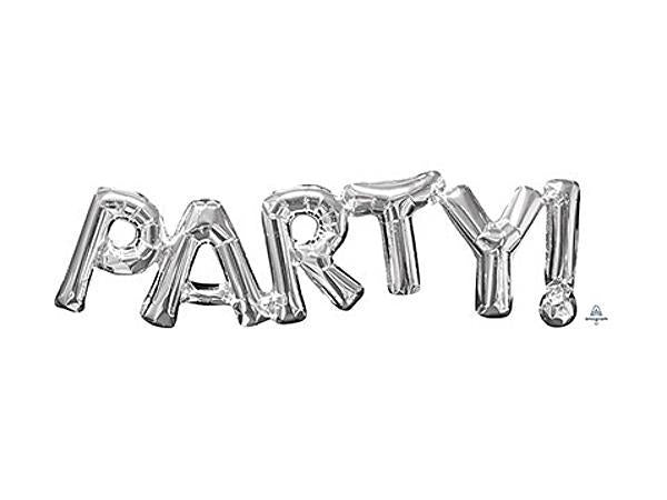 Party Kit Company - Decorations Balloons and Balls Silver Foil 'PARTY' Balloon