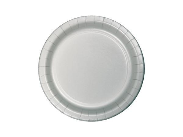 Party Kit Company - Tableware Plates Silver Lunch Plates (24pk)