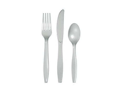Party Kit Company - Tableware Cutlery Silver Party Cutlery (24pk)